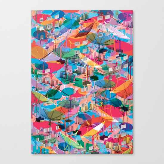 Fragmented Worlds VIII II Canvas Print