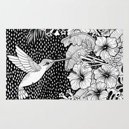 Hummingbird garden Rug