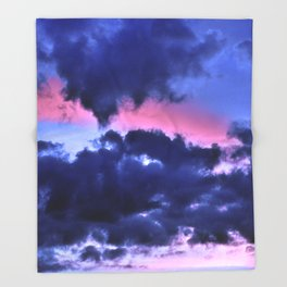 Clouds - Twilight Summer #1 #sunset #decor #art #society6 Throw Blanket