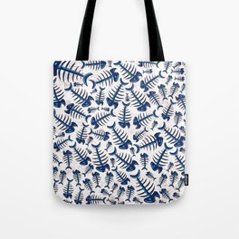 Blue Fish Bones on a Lonely Beach Tote Bag