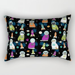 Space Cats - cats in space cute cats cat art cat print Rectangular Pillow