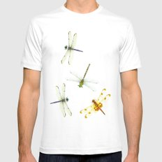 Dragonfly pattern White MEDIUM Mens Fitted Tee