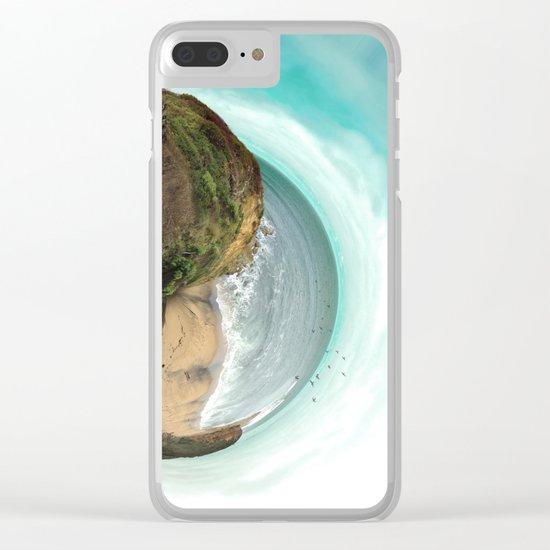 Bells Beach tiny world Clear iPhone Case