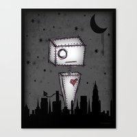 robot Canvas Prints featuring Robot by Billy Ludwig