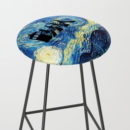 The Doctors Walking Of Starry Night Bar Stool