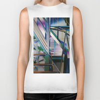 architecture Biker Tanks featuring Architecture by Paris Martin