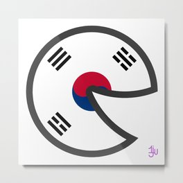 Korea Smile Metal Print