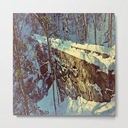Vaughan's Woods Bridge in Winter Metal Print