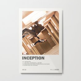 Inception sci-fi Christopher Nolan Movie poster  Metal Print
