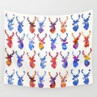 reindeer Wall Tapestries featuring Reindeer by Verismaya