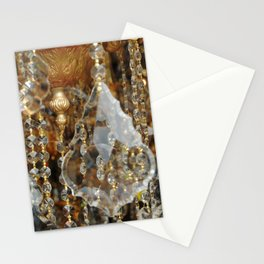 Crystals and Gold Stationery Cards
