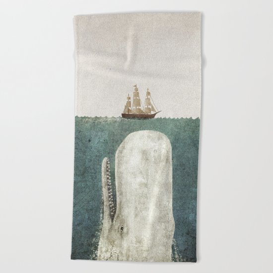 The Whale - vintage option Beach Towel