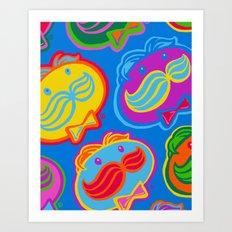 pringles man Art Print