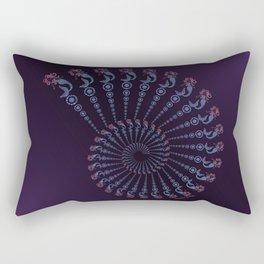 Tribal Mermaid Spiral Shell on Violet Rectangular Pillow
