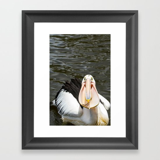 A lucky capture Framed Art Print