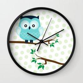 owl & branch Wall Clock