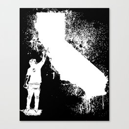 California tagger white Canvas Print