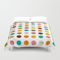 polka dot Duvet Covers featuring Autumnal polka dot by cafelab