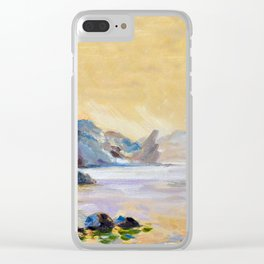 Lonely sailer Clear iPhone Case