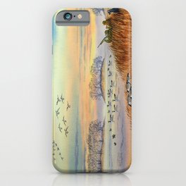 Goose Hunting Season Colorful Painting iPhone Case