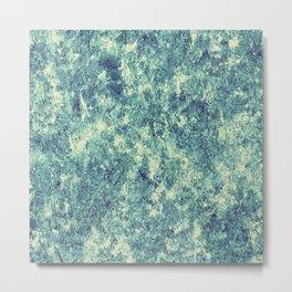 Emerald Silver Crust Metal Print