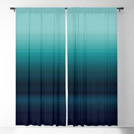 Teal to Indigo Ombre Design Blackout Curtain