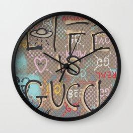 LifeIsGucci Wall Clock