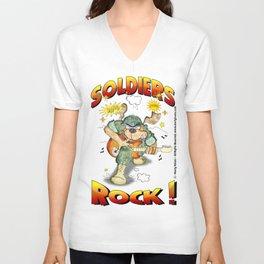 Soldier Rock nobkgrnd Tees Unisex V-Neck