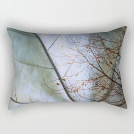 Tree reflection on its leaf Rectangular Pillow