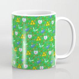 Ocarina of Time Pattern / Legend of Zelda Coffee Mug