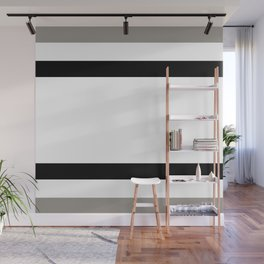 Gray and black lines Wall Mural