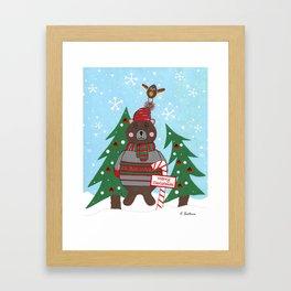 Have A Beary Nice Christmas Framed Art Print
