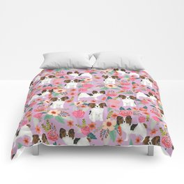 Papillon pet friendly small cute dog breed must have gift for dog lover florals dog pattern print Comforters