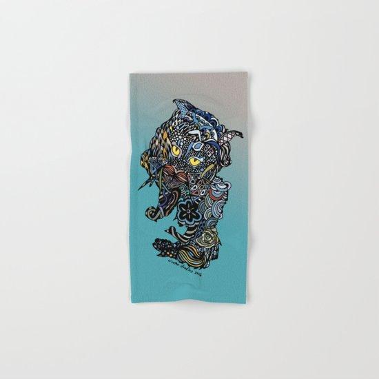 Dragon Cat (Color) Hand & Bath Towel