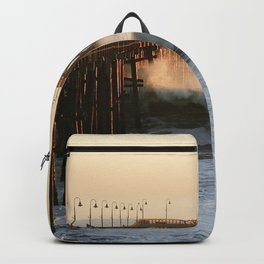 Ventura Pier with Big Wave Backpack