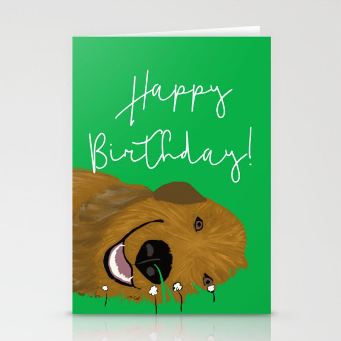 Golden Doodle Birthday Card Stationery Cards