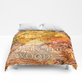 LION IN THE WOOD Comforters
