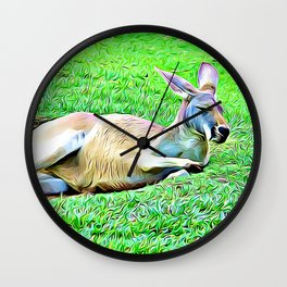 Sleepy Kangaroo Wall Clock