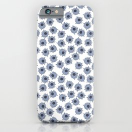 Macrophages - Blue on White iPhone Case