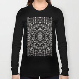 Ebony Lace Mandala Pattern Long Sleeve T-shirt