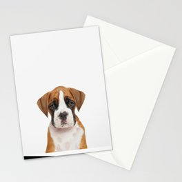 German Boxer Puppy Stationery Cards