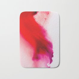 Slow Burn: simple abstract ink on paper in red, purple, and pink Bath Mat