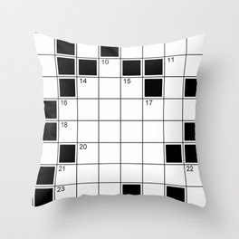 crossword Throw Pillow
