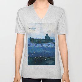 The Fisherman's Dream #2 Unisex V-Neck