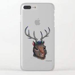 Majestic Squirrel With Antlers Clear iPhone Case