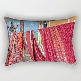 Wash day at Hindu temple, Mauritius Rectangular Pillow