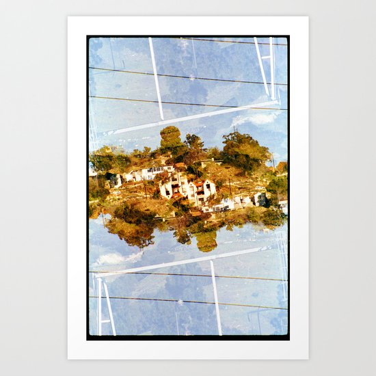 islands 2 (35mm multi exposure) Art Print