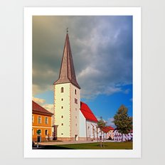 The village church of Schenkenfelden III | architectural photography Art Print