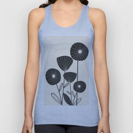 Abstract Flowers Unisex Tank Top