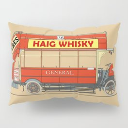 The Vintage London Bus Pillow Sham